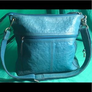 Green/Blue Fossil Leather Purse